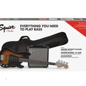 SQUIER PJ BASS GUITAR & AMP PACK - B