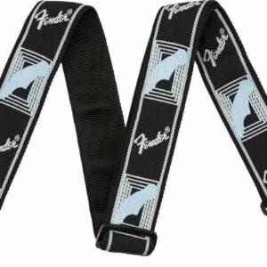"""Fender 2"""" Monogrammed Strap Black/Light"""