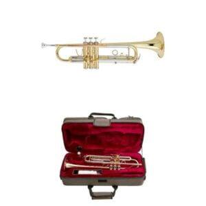 Beale TR200 Trumpet, Case, Brass Body