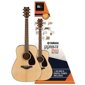 Yamaha Gigmaker 800M Guitar Pack - Natur